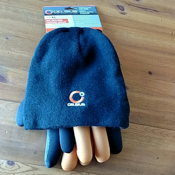 Celsius Ice Gear Neoprene Glove/ Hat Combo NWT